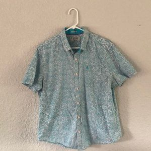 Original Penguin Pink and Blue Button Up